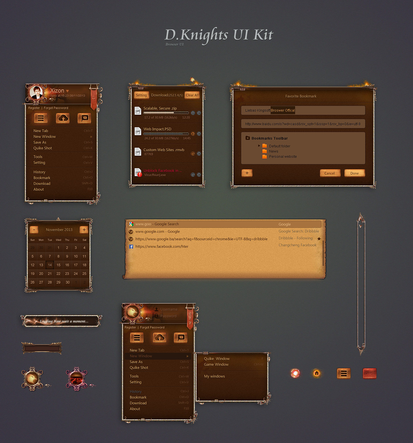 D.Knight Browser UI Kit